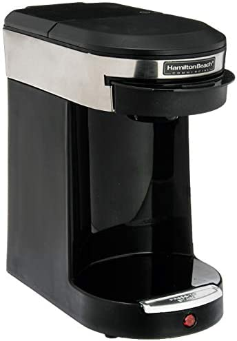 Hamilton Beach SMALL APPLIANCES 1030390 Stainless Steel Black Beach Single Cup Hospitality Coffeemaker with 3-Minute Brew Time