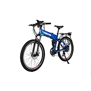 X-Treme Scooters X-Treme Baja 48 Volt FOLDING High Power Long Range Electric Mountain Bicycle (Blue)