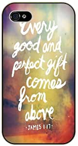 Every good and perfect gift comes from avobe - James 1:17 - Bible verse iPhone 5 / 5s black plastic case.