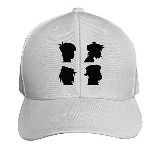 Sandwich Visor Baseball Cap - Unisex G-orillaz Funny Song Hiphop Hip Hop Baseball Cap Adjustable Peaked Sandwich Hat White