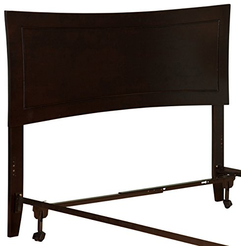 Atlantic Furniture AR9030101 Metro Headboard with Metal Bed Frame, Espresso ()