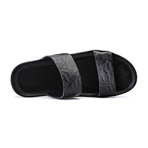 s Slip Color Slipper Heel Shoes Black on 2018 Solid Men Flat 75x6fq