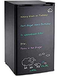 Igloo Black Eraser Board Refrigerator, 3.2 cu ft, with Reversible Door