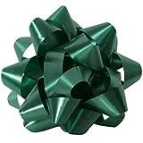 JAM Paper Gift Bows - Large - 7'' Diameter - Hunter Green - sold individually