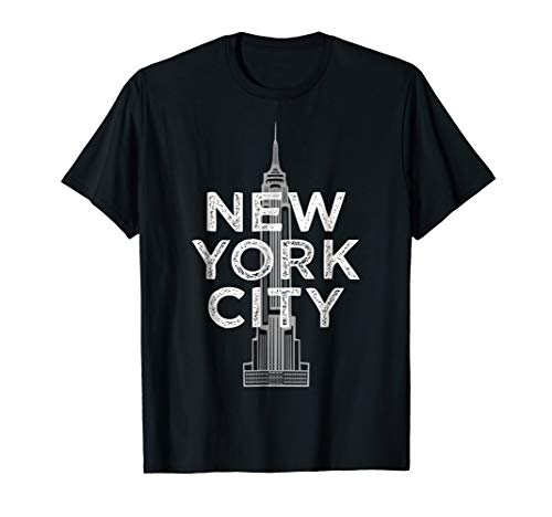 New York City Iconic Empire State Building Graphic T-Shirt