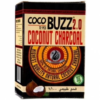 Starbuzz Cocobuzz 2.0 Hookah Shisha Charcoal 72pieces (Starbuzz Tobacco Charcoals)