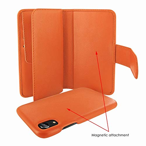 ❥ Piel Frama iPhone XR WalletMagnum Leather Case - Orange orange iphone xr case 5