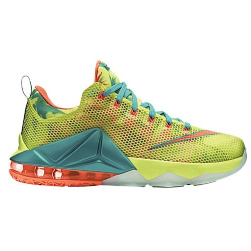 "Nike LeBron 12 Low ""LeBronold Palmer"" White/Lime-Bright Mango 776652-383 Men's Size 10.5 US"