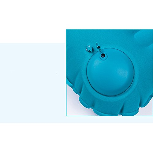 LB Trading tragbar Reisekissen, Push aufblasbares Kissen, quadratisch Ultralight aufblasbares leicht Nackenkissen