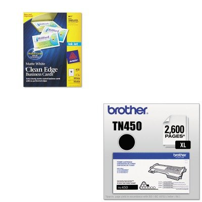 KITAVE8877BRTTN450 - Value Kit - Avery Two-Side Printable Clean Edge Business Cards (AVE8877) and Brother TN450 TN-450 High-Yield Toner (BRTTN450) by Avery