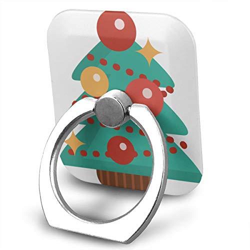 (Pastel Christmas Tree Clipart Phone Ring Stand Holder Cellphone Kickstand Finger Grip 360¡ã Rotation 180¡ã Flip )