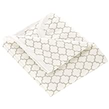 Kushies Baby Deluxe Change Pad, White/Grey Ornament