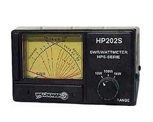 WORKMAN HP202S CROSS NEEDLE SWR/WATT METER, 1000 WATT POWER METER