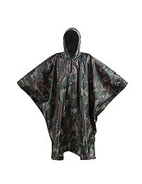 OneTigris Ripstop Lightweight Poncho Waterproof Hooded Raincoat