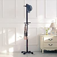 Solid wood coat hanger (Black)