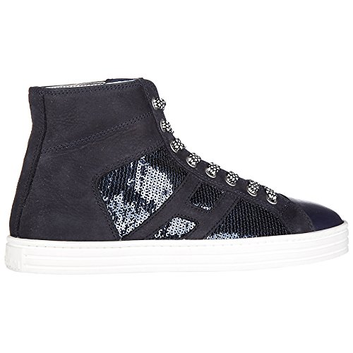 Rebel pailett Women's Trainers Hogan high r141 top laterale Shoes Suede Sneakers Fdqdfv