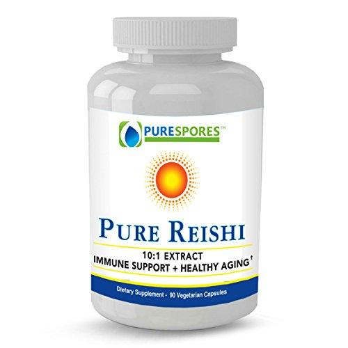 Pure Potent Duanwood Red Reishi Mushroom: Full Spectrum 10:1 Extract for Highest-Level Liver, Cardiovascular and Immune Support – Promotes Longevity – 1000mg per Serving – 90 Veggie Capsules (Full Spectrum Reishi Mushroom)