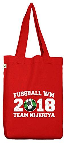 ShirtStreet Nigeria Fußball WM Fanfest Gruppen Bio Baumwoll Jutebeutel Stoffbeutel Team Nijeriya Red F0dCY