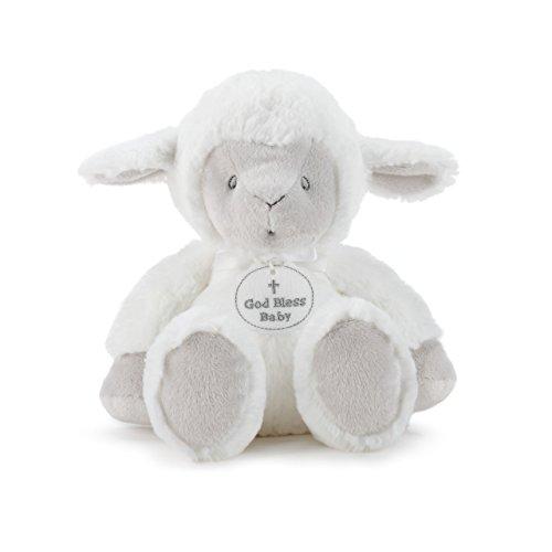 Baby God Cross Bless (DEMDACO God Bless Baby Cross Serenity Lamb Bright White Children's Plush Stuffed Animal)