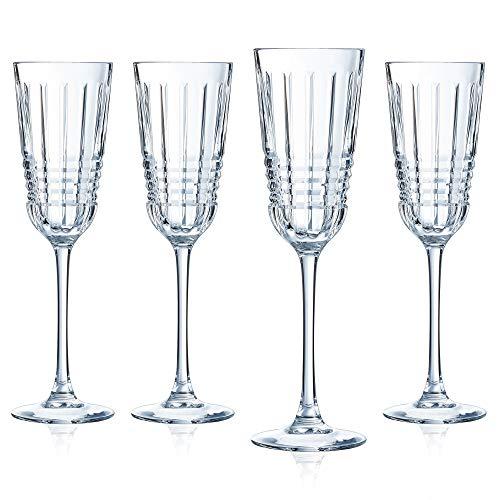 Cristal D'Arques Rendez-vous 5.75 Ounce Champagne Flute, Set of 4