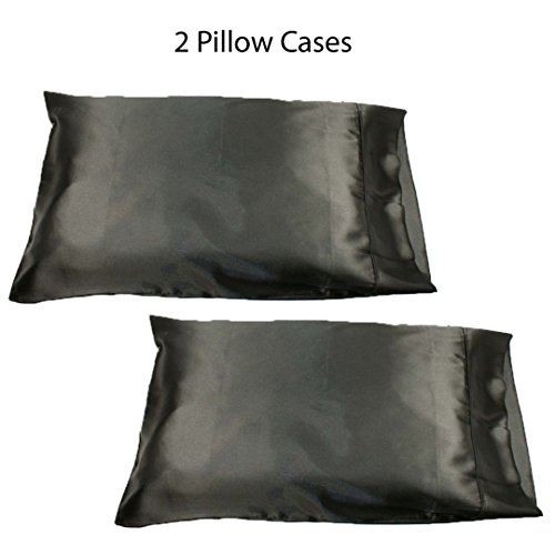 set two soft satin pillowcases