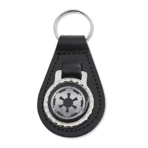 EvolveFISH Imperial Galactic Empire Black Leather Keychain Fob - 3