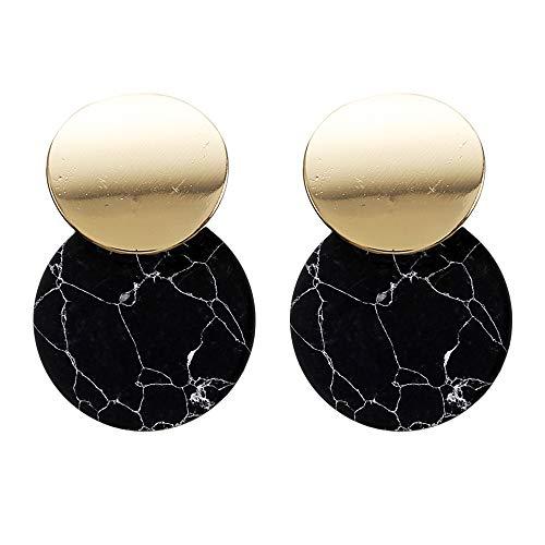Geometric Dangle Earrings Drop Hoop Tassel Chandelier Ear Cuff Stud Earrings Women Girls Fashion Piercing Minimalist Wedding Bridal Tribal Long Dangling Charms Jewelry Black Tone
