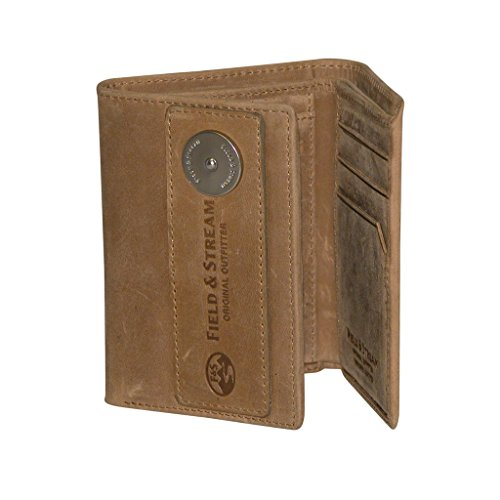 Field and Stream Three-Fold Wallet - RFID Blocking (Tan) - Fold Mens Three Wallet