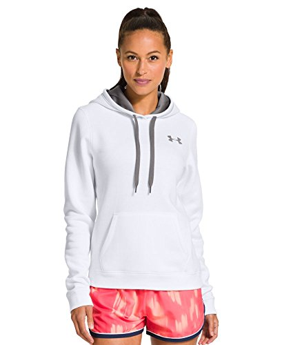 Under Armour Women's UA Rival Cotton Hoodie X-Small White by Under Armour