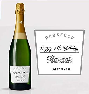 Personalizado Champagne Botella Etiqueta Cumpleaños Boda Navidad cualquier ocasión