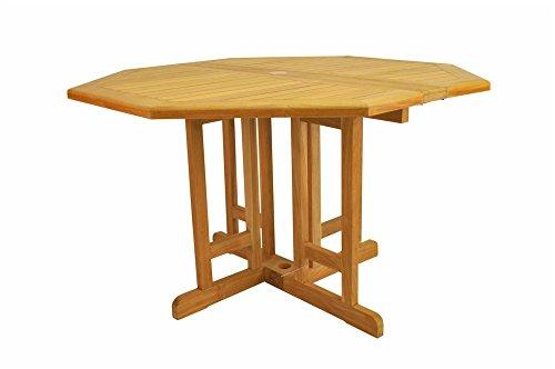 Anderson Teak TBF-120BO Butterfly Octagonal Folding Table, 47