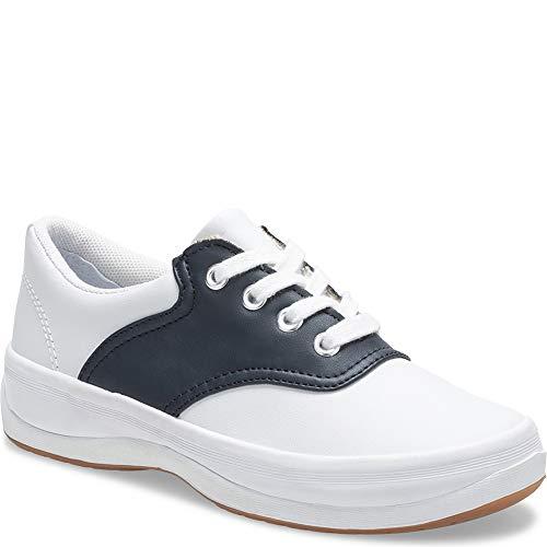 Keds unisex-child School Days II Sneaker ,White/Navy,5 M US Big covid 19 (Keds Childrens Shoes coronavirus)