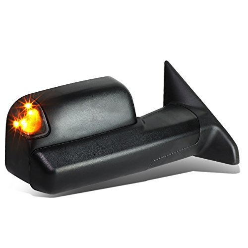(For Dodge Ram Powered+Heated+LED Turn Signal+Flip Up Towing Mirror (Right/Passenger))