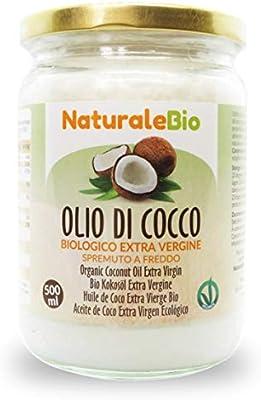 Aceite de Coco Ecológico Extra Virgen 500 ml. Crudo y prensado en frío. 100% Orgánico, Puro y Natural. Aceite bio nativo no refinado. País de origen Sri Lanka. NaturaleBio: Amazon.es: Alimentación y