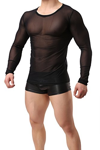 6de4ec8f34eb9 Jual ONEFIT Men s See Through Tank Top Mesh Long Sleeves T-Shirt ...
