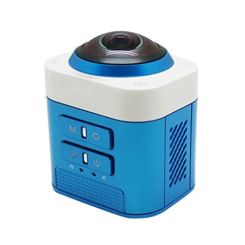 Wifi Sport DV,AnyGo D5 360 Degree Full View VR Camera Fisheye Sphere Video Camcorder-Blue Action Cameras AnyGo