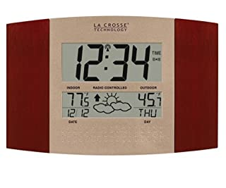 La Crosse Technology WS-8157U-CH-IT Atomic Clock with Outdoor Temperature and Weather Forecast (B0000VYIZM) | Amazon Products