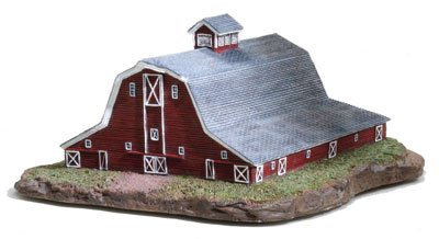 Wing Gambrel Roof Barn Cold Cast Porcelain Figurine by Ertl