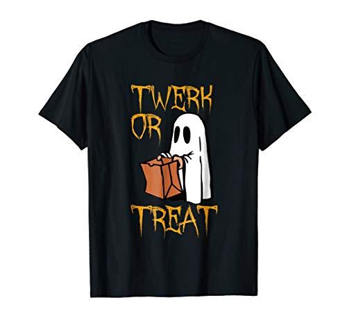 Twerk or Treat Ghost Funny Halloween Treat Costume T Shirt -