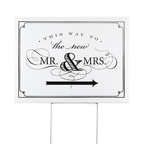 Wedding This Way Sign: Amazon.com