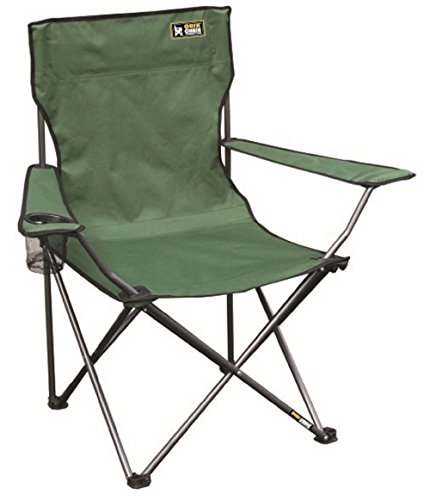 Folding Green Chairs Outdoor - Quik Chair Portable Folding Chair with Arm Rest Cup Holder and Carrying and Storage Bag, Green