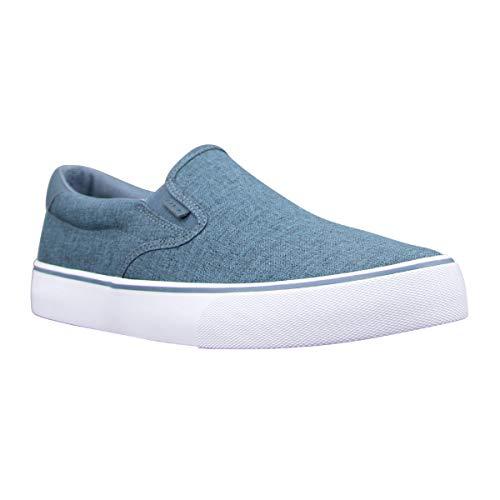 Lugz Men's Clipper Classic Slip-on Fashion Sneaker, Navy/White/Gum, 13