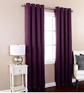 Curtains Ideas curtain panels 72 length : Amazon.com: GorgeousHomeLinen 1 PC Navy Blue #72, length 63