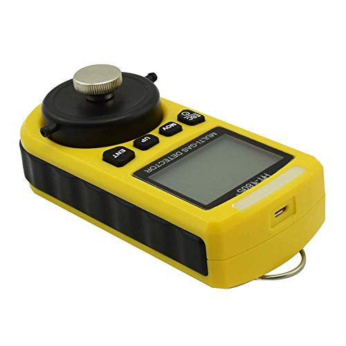 (HM 4 in 1 Gas Detector Tester LCD Digital Portable Portable Natural Gas Tester with High Sensity for O2 / CO / H2S / LEL Gas)