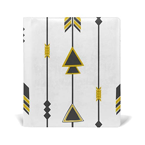 Dragon Sword Tribal Arrows Stretchable Book Covers Fits Most Hardcover Textbooks up to 9 x 11. Adhesive-Free, PU Leather School Book Protector. Easy to Put On Jacket - Tribal Sword