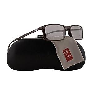 Ray Ban RX7035 Eyeglasses 57-17-145 Shiny Dark Brown w/Demo Clear Lens 5434 RB7035 RB 7035 RX 7035