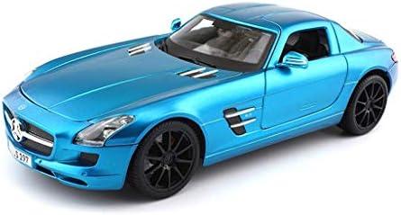 YN モデルカー マットブルーモデル車メルセデス - メルセデスベンツSLS AMG GTガルウィング合金車モデル高シミュレーション1:18メタルスポーツカー合金車モデル ミニカー