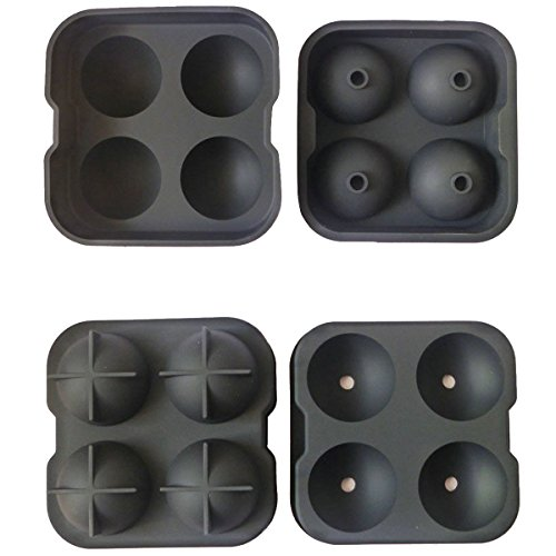 OnePlus Food Grade Quality Silicone 4 Ice Balls Maker Mold / Premium Ice Sphere Tray