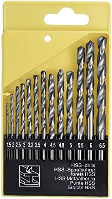 uxcell 6.5mm Dia HSS Spiral Flute Straight Shank Twist Drill Bits Drilling Tool 6pcs