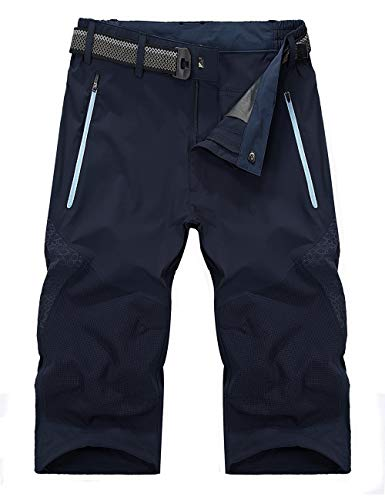 EKLENTSON Mens Cargo Shorts Casual Tactical Pants for Men Twill Shorts Slim Fit Shorts Workout Shorts Men with Pockets Blue ()